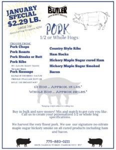 Butler Meats Pork Month
